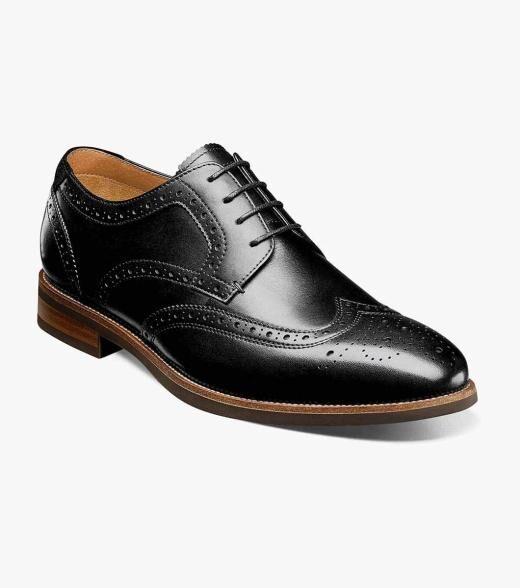 Florsheim Uptown Uptown Wingtip Oxford Men's Dress Shoes  - Black Brown CH Brown Suede Cognac - Size: 7, 7.5, 8, 8.5, 9, 9.5, 10, 10.5, 11, 11.5, 12, 13, 14