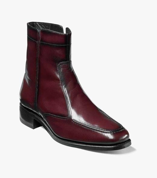 Florsheim Essex Essex Moc Toe Zipper Boot Men's Dress Shoes  - Black Black Cherry - Size: 6, 6.5, 7, 7.5, 8, 8.5, 9, 9.5, 10, 10.5, 11, 11.5, 12, 13