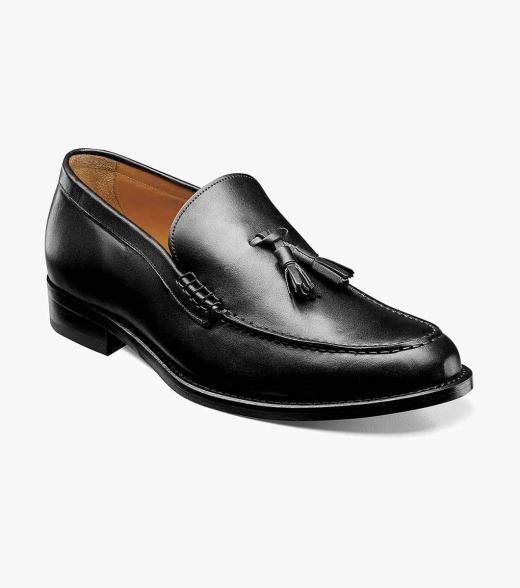 Florsheim Puccini Puccini Moc Toe Tassel Loafer Men's Dress Shoes  - Black - Size: 41, 42, 43, 44, 45, 46