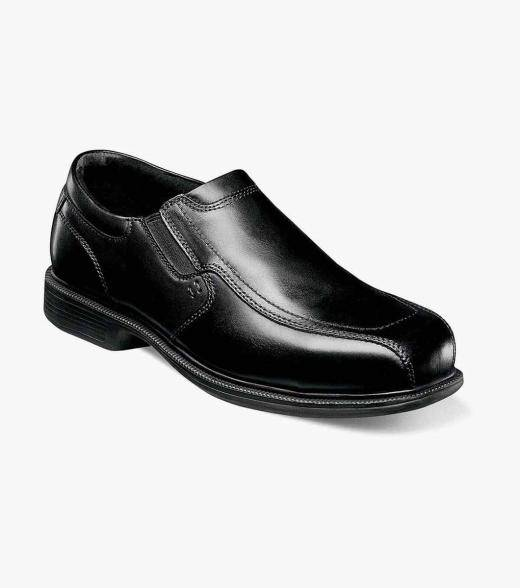 Florsheim Coronis Steel Toe Coronis Steel Toe Bike Toe Slip On Men's Safety Shoes  - Black - Size: 7, 7.5, 8, 8.5, 9, 9.5, 10, 10.5, 11, 12, 13, 14
