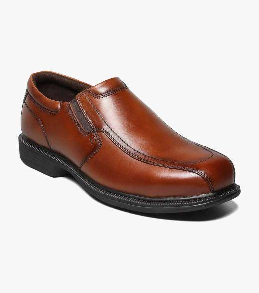 Florsheim Coronis Steel Toe Coronis Steel Toe Bike Toe Slip On Men's Safety Shoes  - Brown - Size: 8, 8.5, 9, 9.5, 10, 10.5, 11, 12, 13