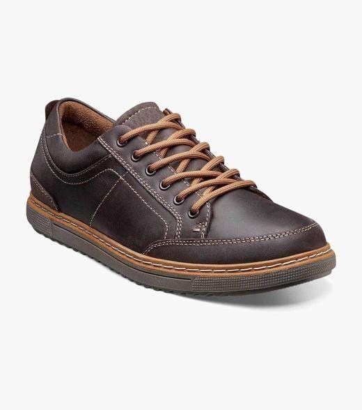 Florsheim Gridley Steel Toe Gridley Steel Toe Moc Toe Oxford Men's Safety Shoes  - Brown - Size: 7.5