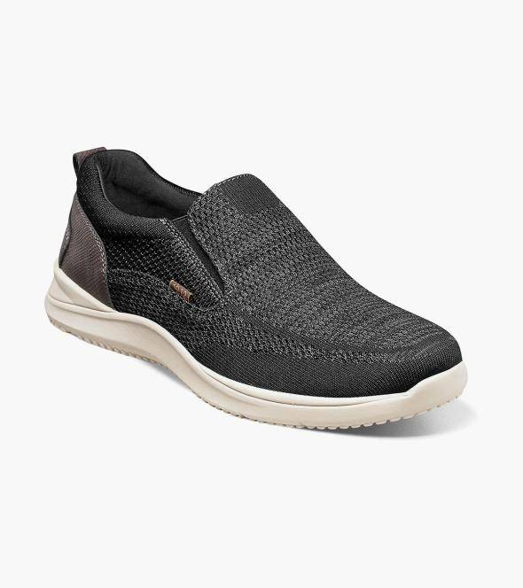 Nunn Bush Conway Conway Knit Moc Toe Slip On Men's Casual Shoes  - Dark Gray Multi Taupe Multi - Size: 8.5, 9, 9.5, 10, 10.5, 11, 12, 13