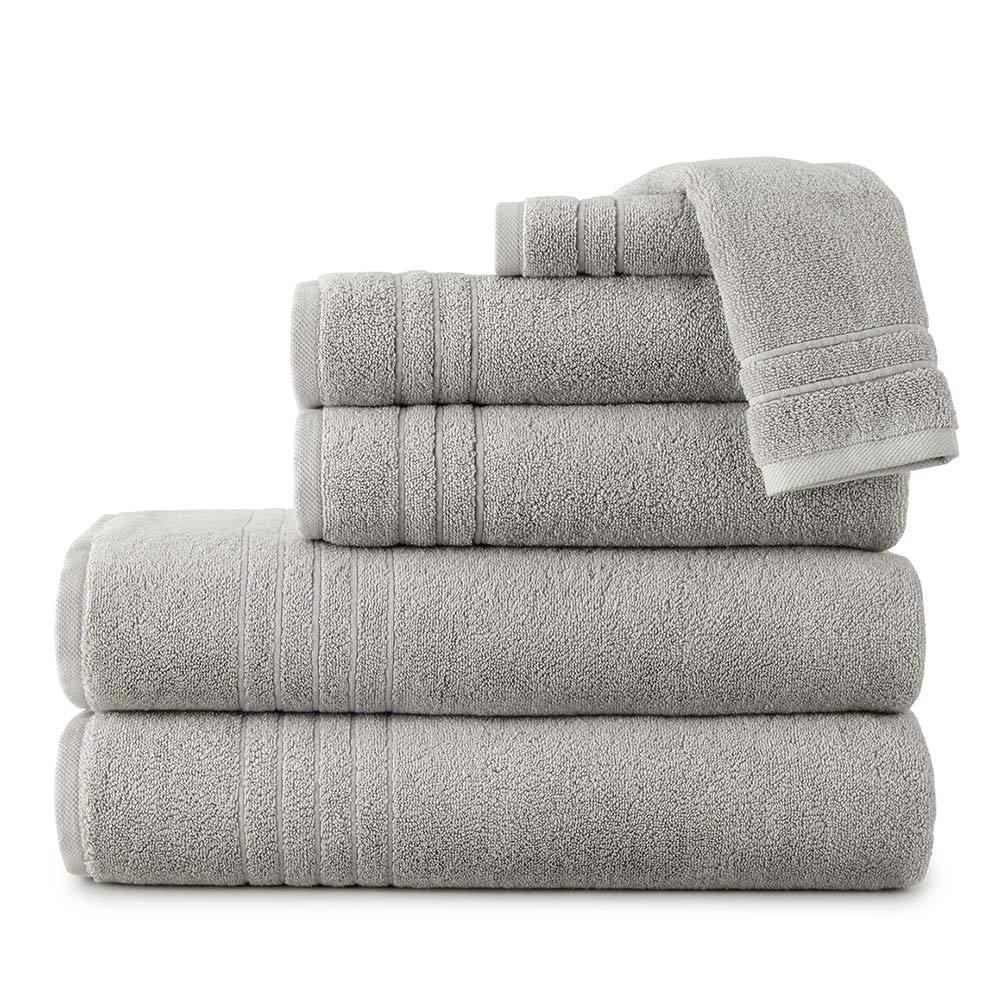 Peacock Alley Pewter Kima Turkish Towel Set -6 pc Towel Set