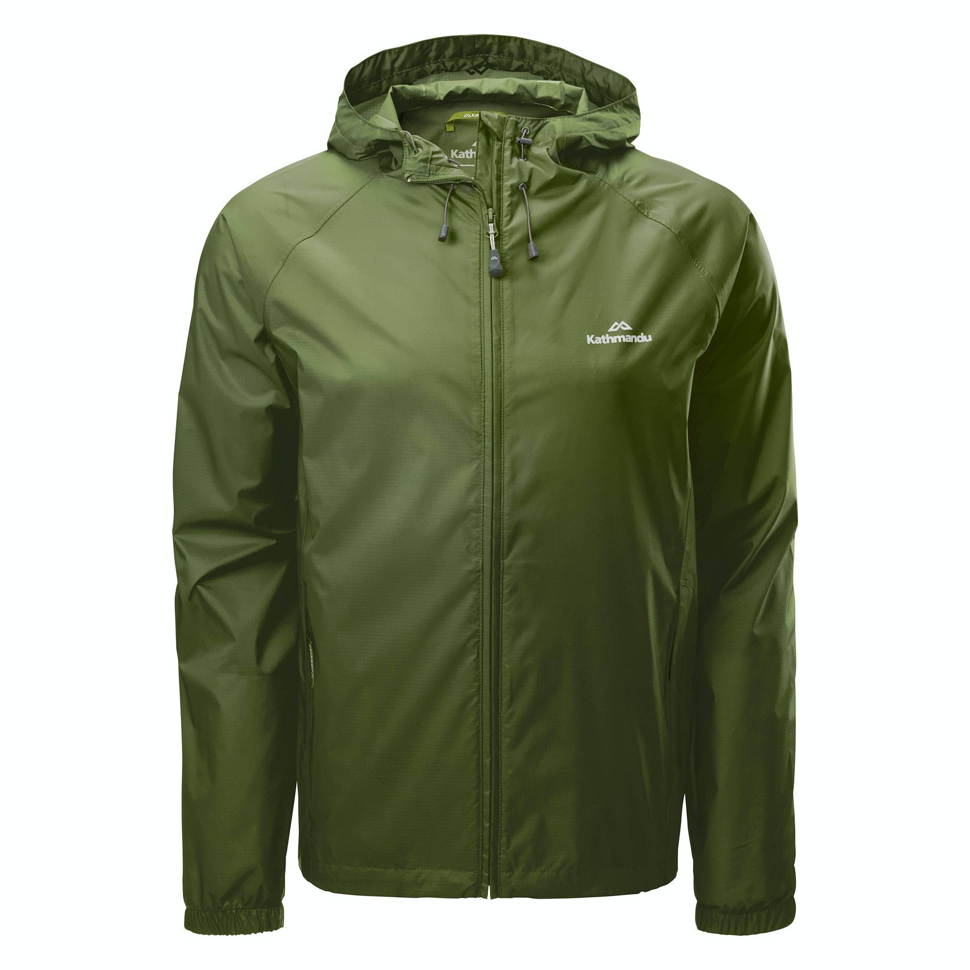 Kathmandu Pocket-it Men's Rain Jacket  - Moss - Size: 2X-Large