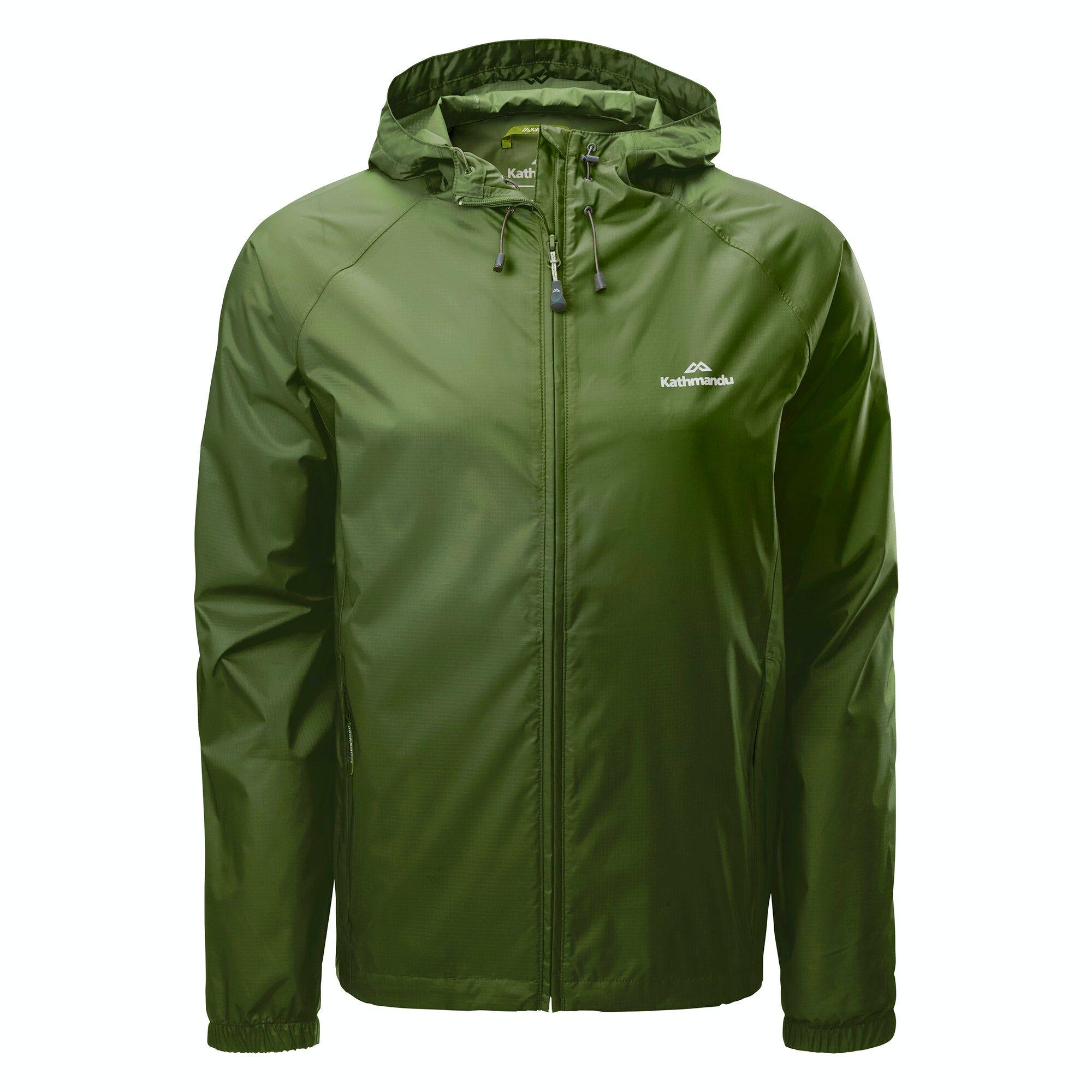 Kathmandu Pocket-it Men's Rain Jacket  - Moss - Size: Extra Small