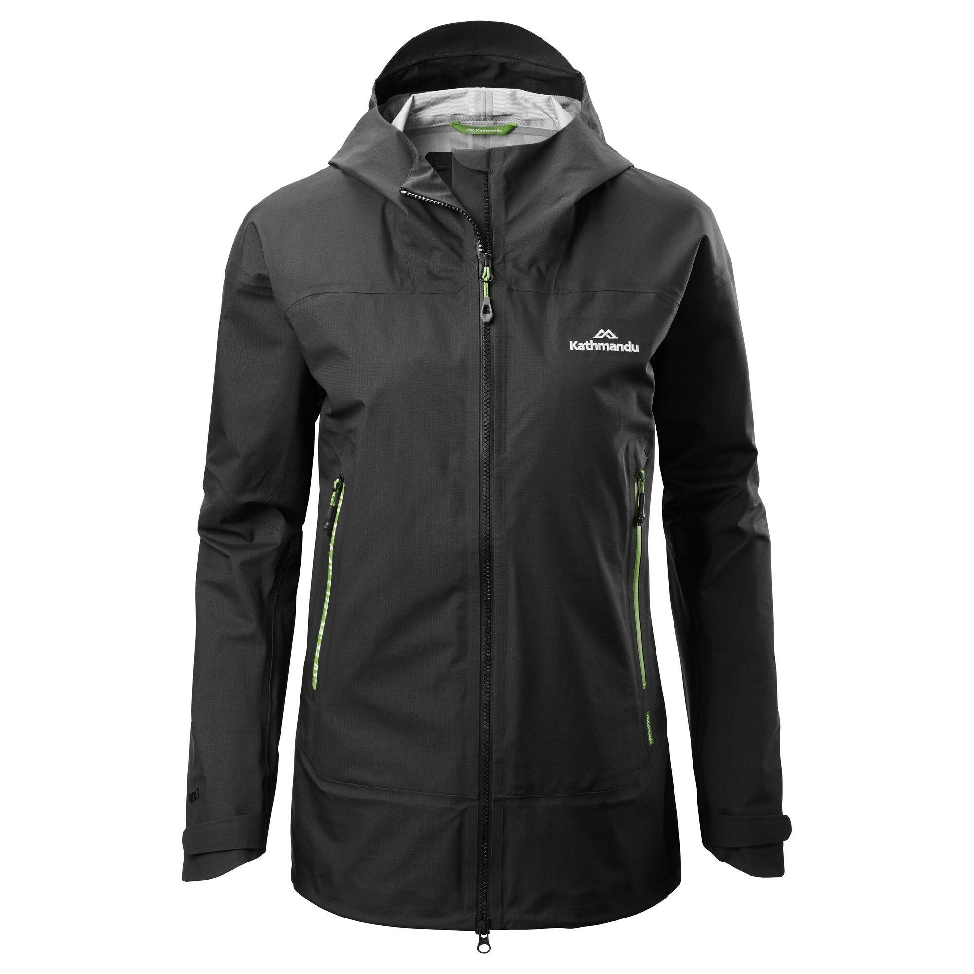 Kathmandu Flinders Women's Rain Jacket  - Black - Size: US 2