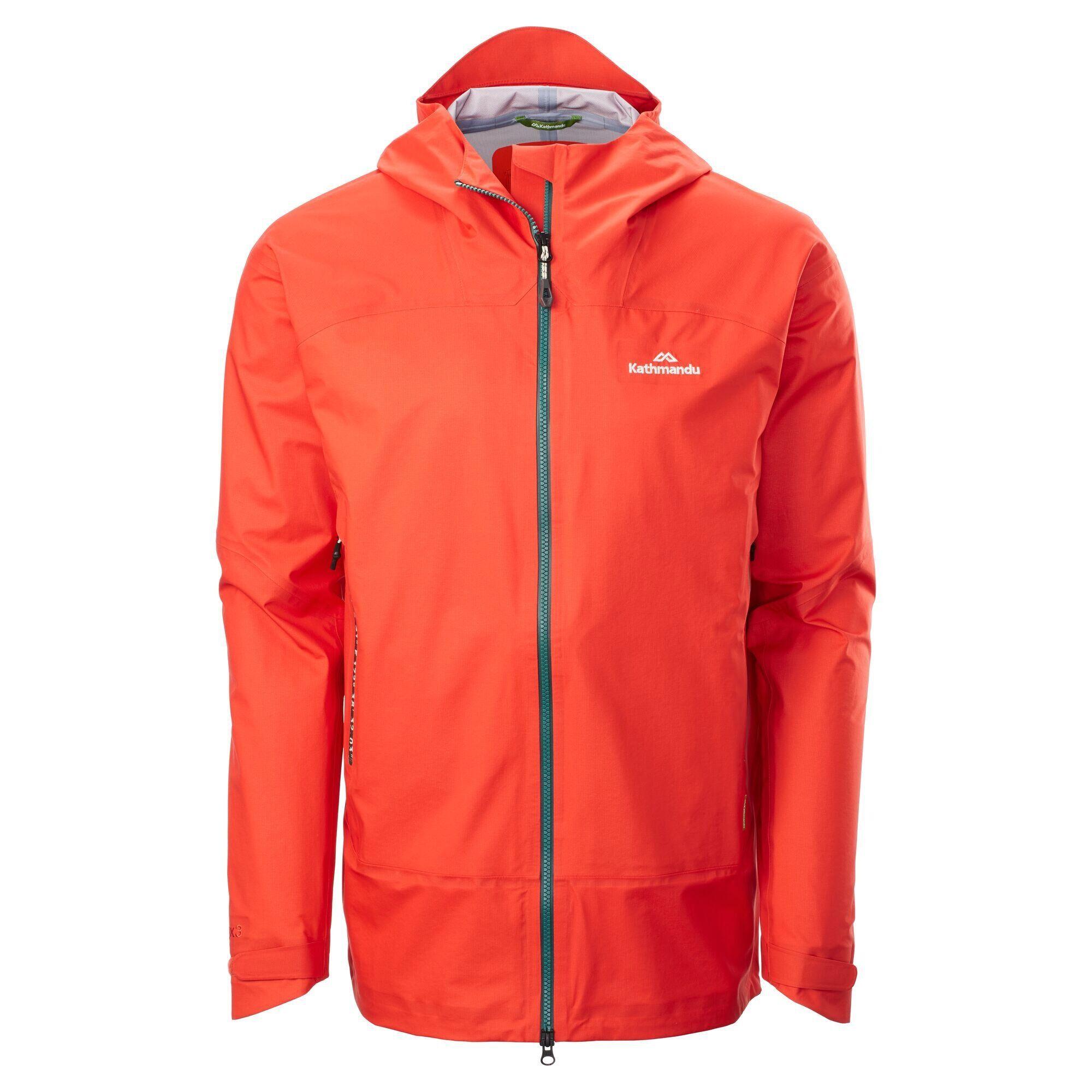 Kathmandu Flinders Men's Rain Jacket  - Fiesta - Size: 2X-Large