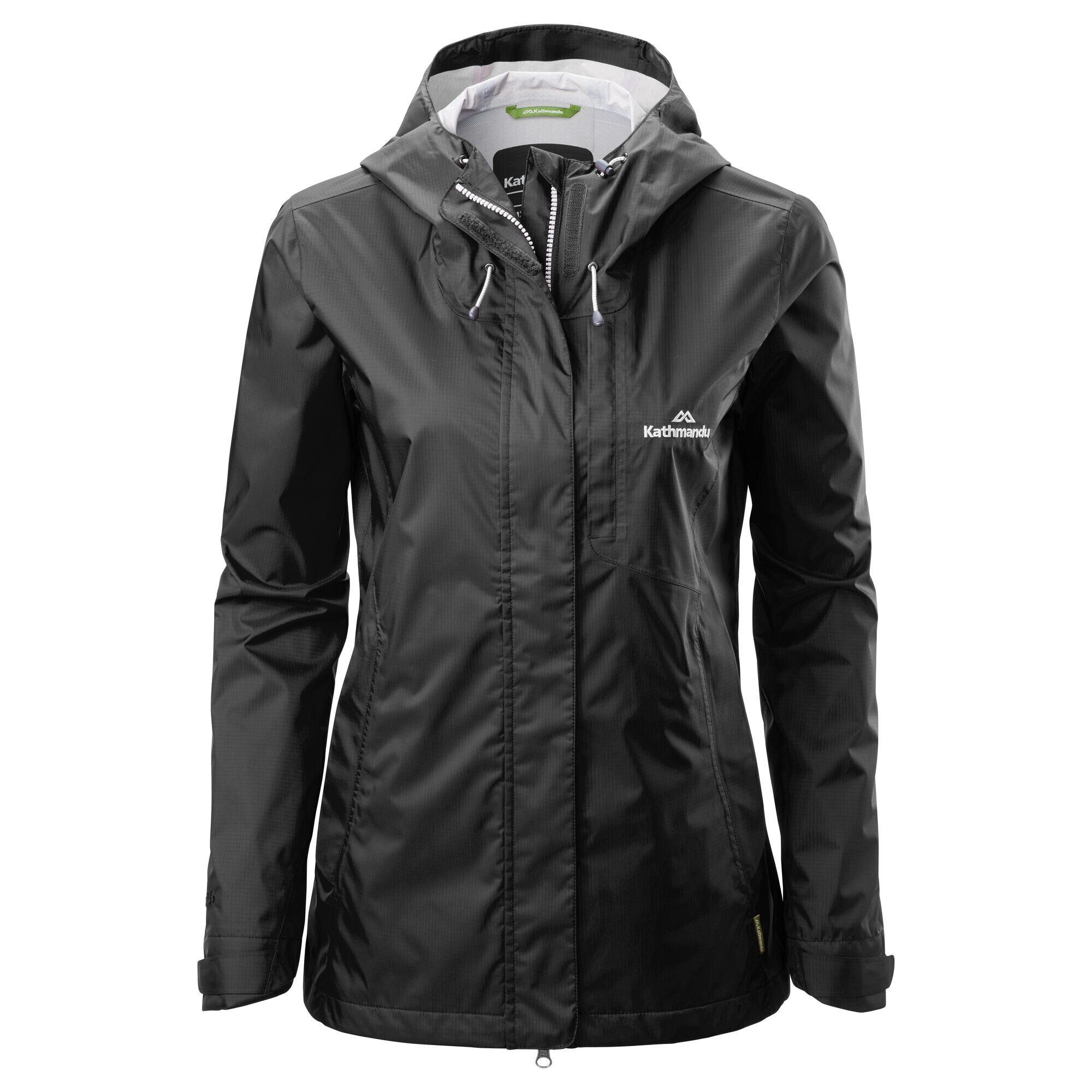 Kathmandu Trailhead Women's Rain Jacket  - Black - Size: US 12