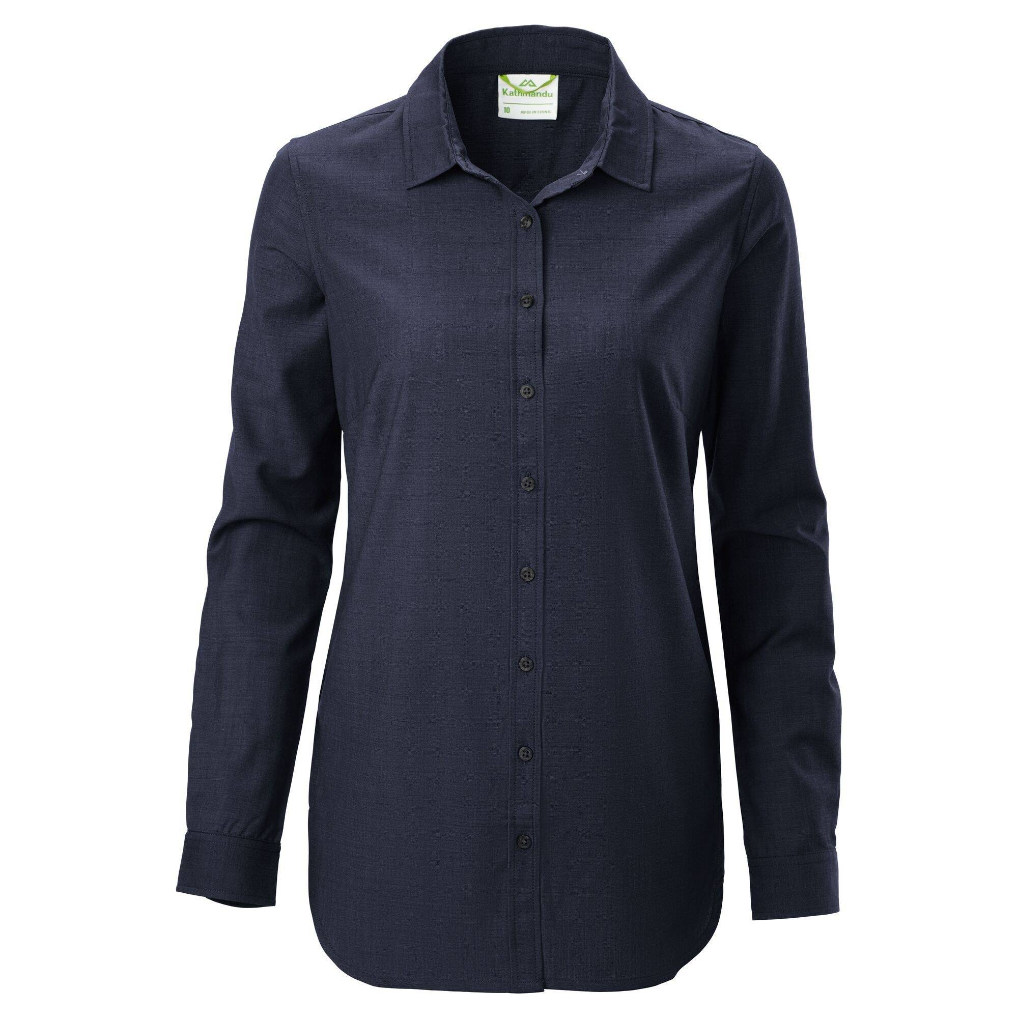 Kathmandu Tomar Women's Merino Long Sleeve Shirt  - Darkest Navy - Size: US 6