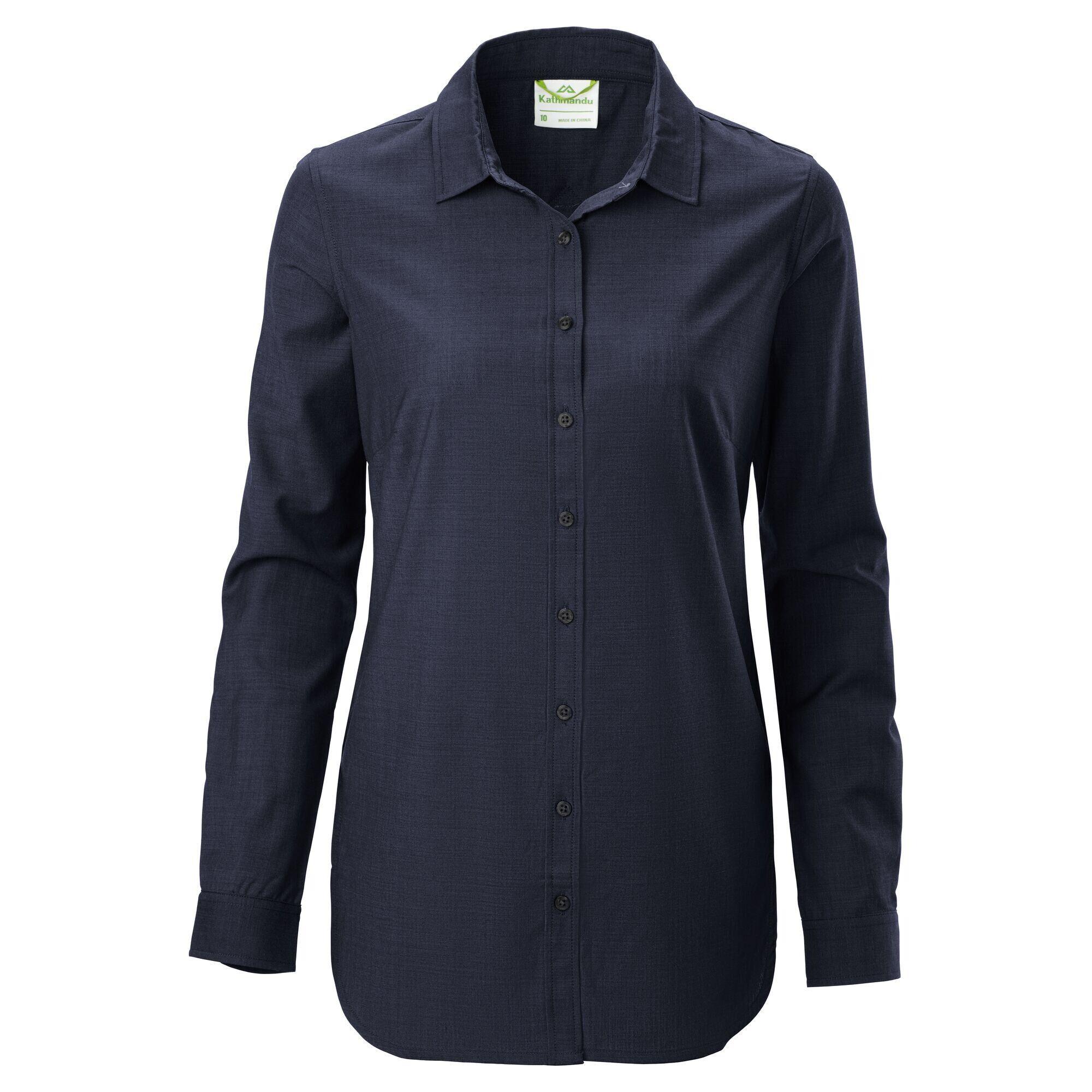 Kathmandu Tomar Women's Merino Long Sleeve Shirt  - Darkest Navy - Size: US 4