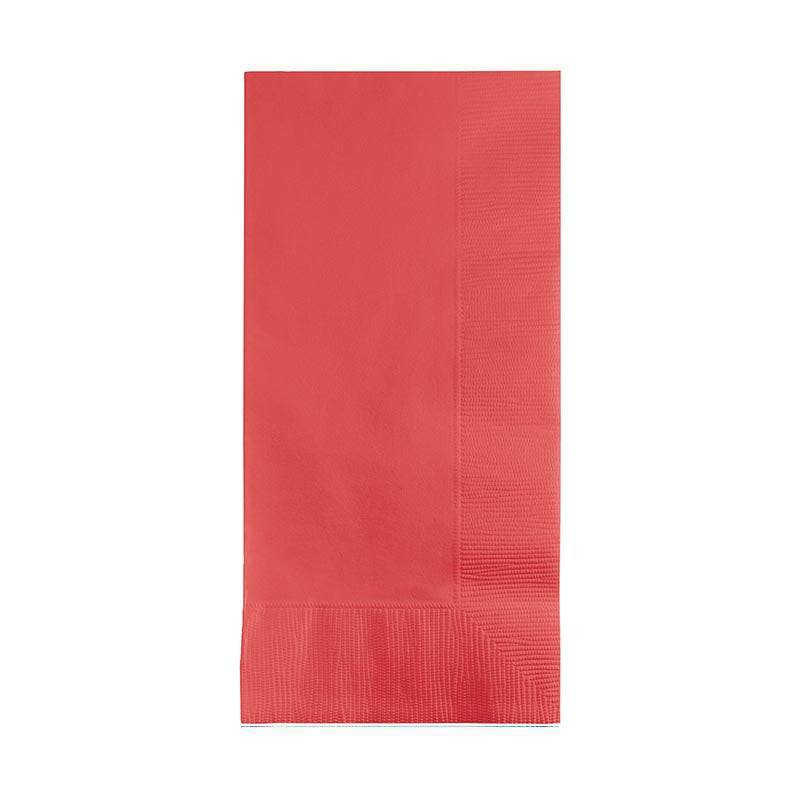 Creative Labs 600 Napkins, Tropical Coral Paper Dinner Napkins
