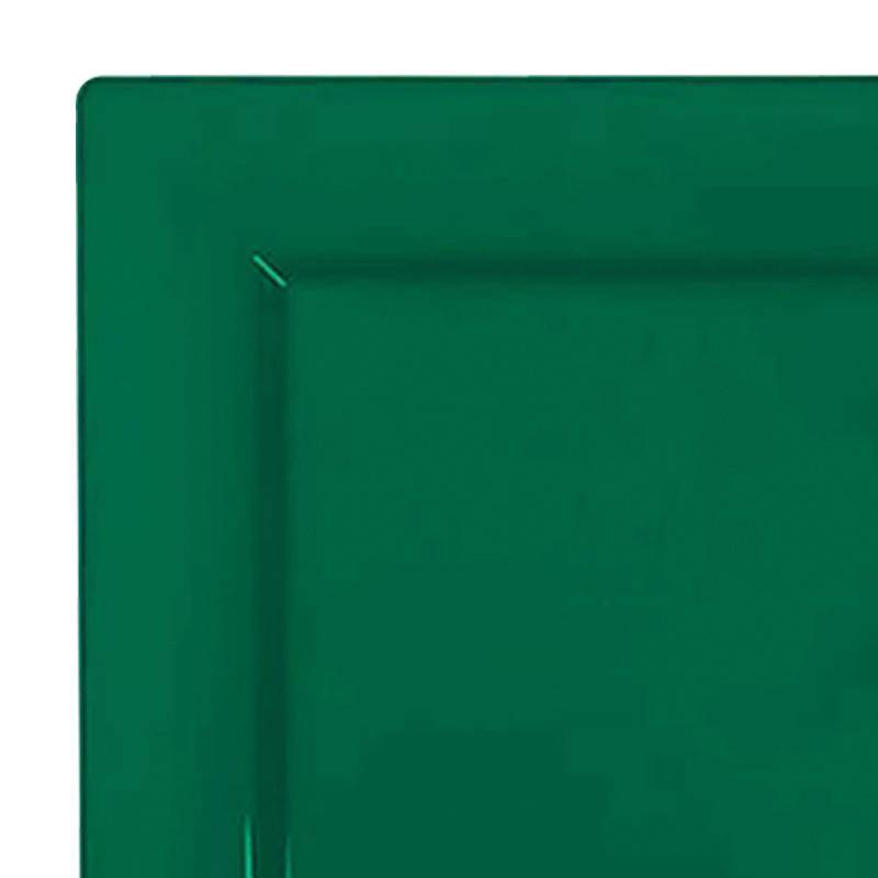 "Kaya Collection 120 Plates, 6.5"" Hunter Green Square Plastic Cake Plates"