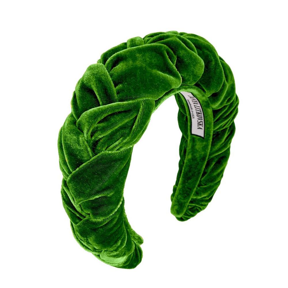 Tanya litkovska Women's Velvet Headband in Grass Green