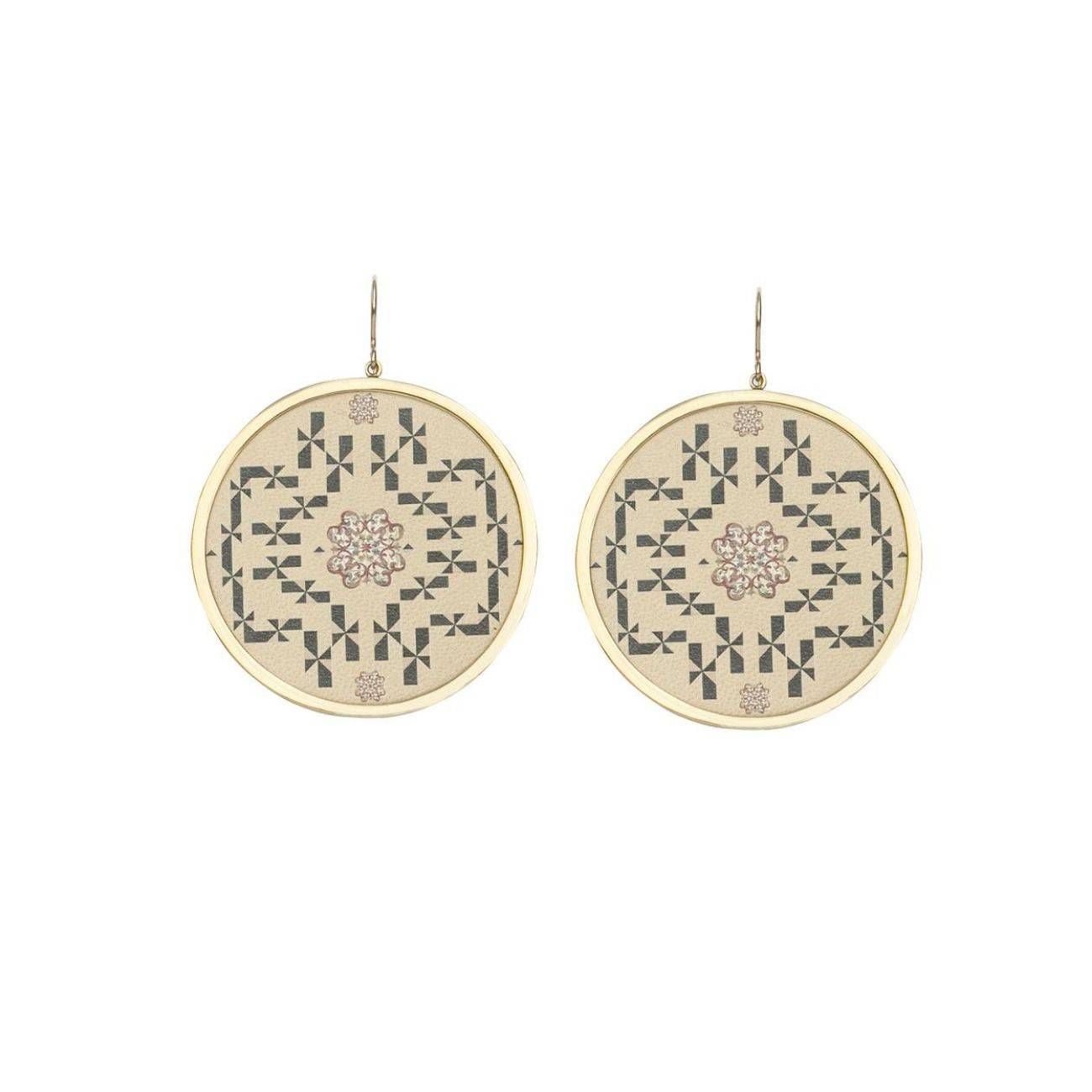 MAHCollection women's ciro sand gold plated earring
