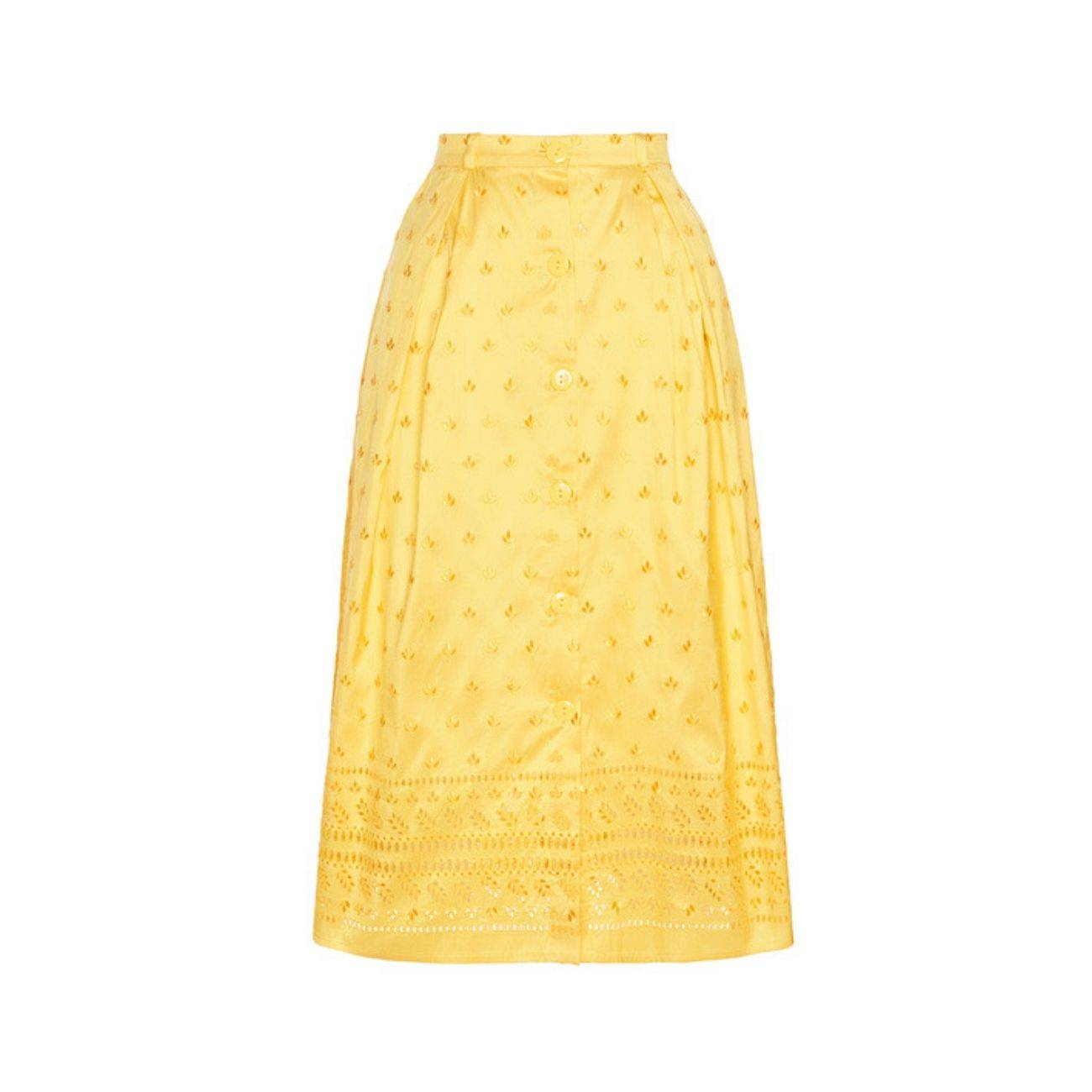 19.04 World Needlework Silk Midi Skirt