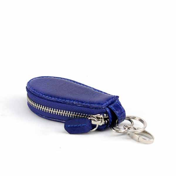 Bangkok Bootery Blue Leather Car Keychain