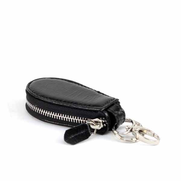 Bangkok Bootery Black Leather Car Keychain