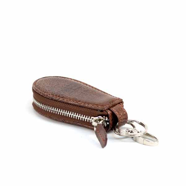 Bangkok Bootery Brown Leather Car Keychain