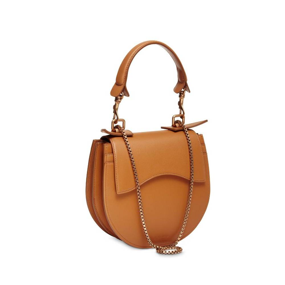 Loes Vrij Diavolino Tonda Tan Matt Gold Accessories Bag