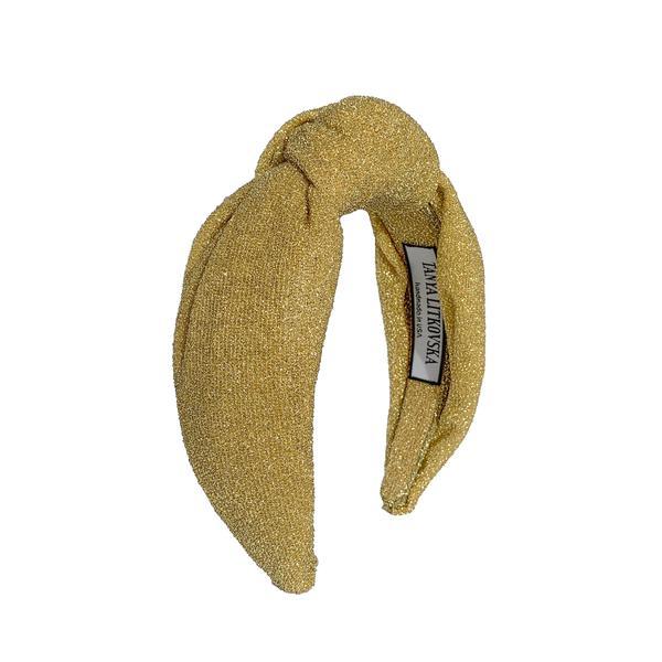 Tanya Litkovska women's knotted golden headband