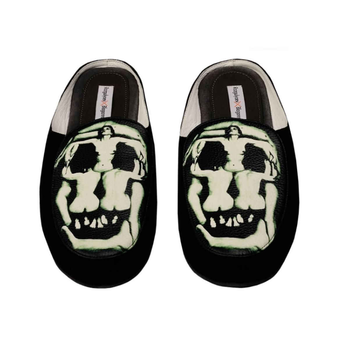 Razgulyaev Blagonravova RxB men's Skull in Art home slippers
