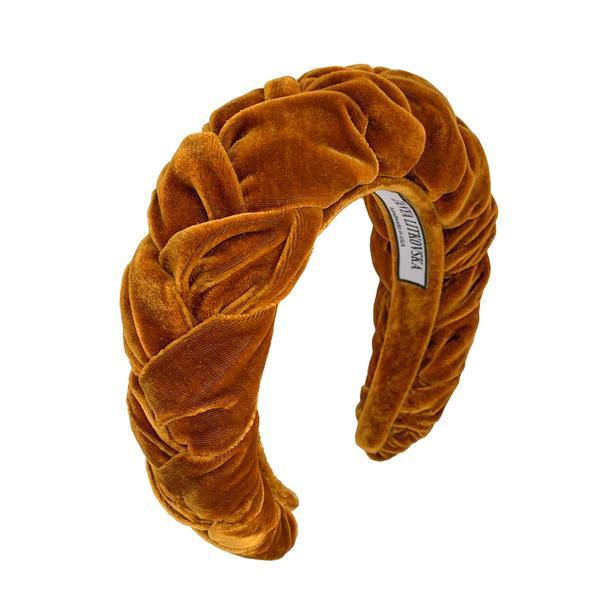 Tanya Litkovska velvet toffee headband