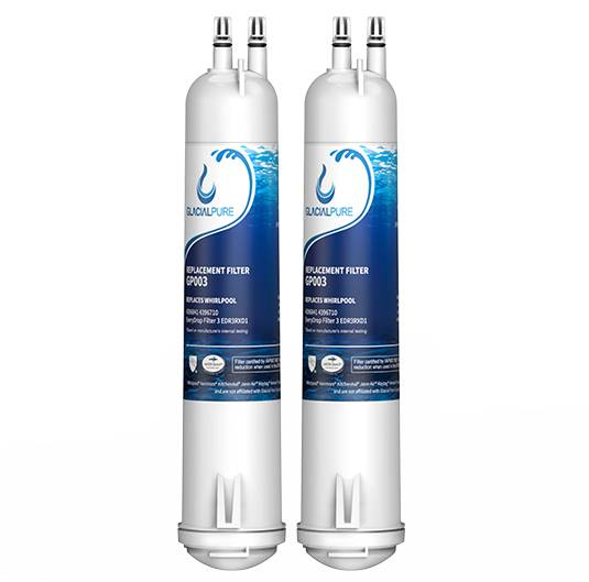 Whirlpool GlacialPure 4396841 Filter for Whirlpool Filter 3, EDR3RXD1, Kenmore 46-9083 (5-Pack)