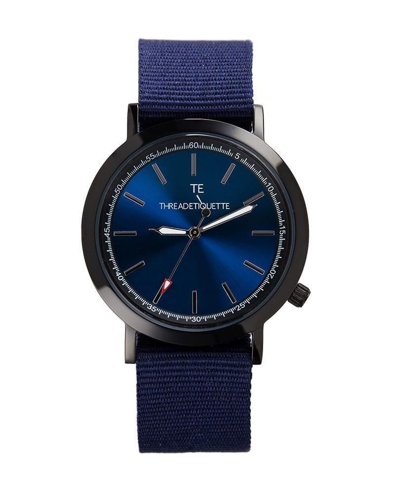 Thread Etiquette Sport  Black / Navy Nato Timepiece
