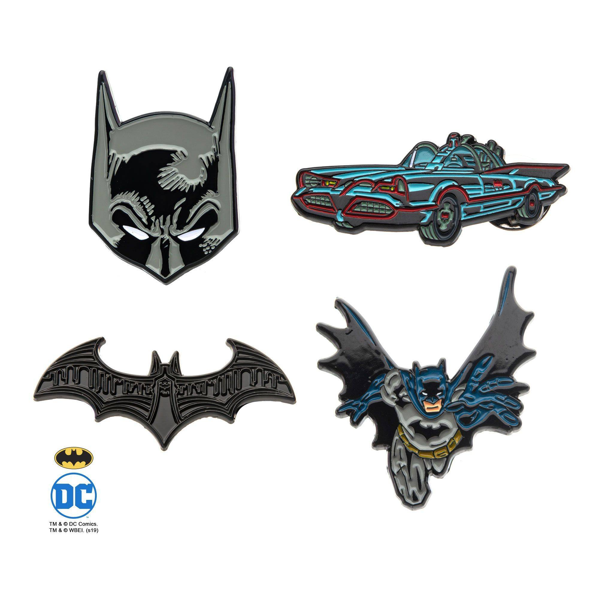 Batman Pin Enamel Set