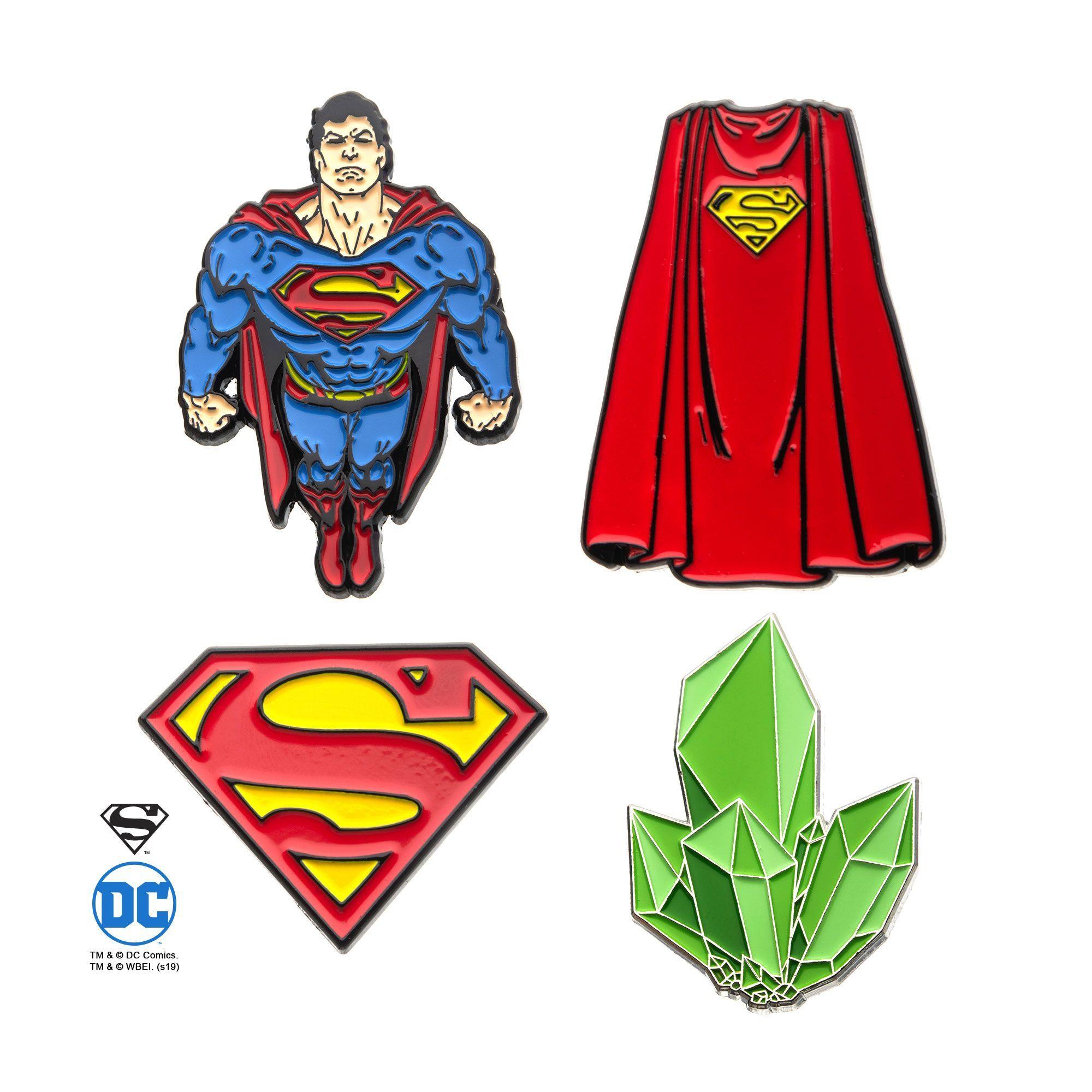 Superman Pin Enamel Set