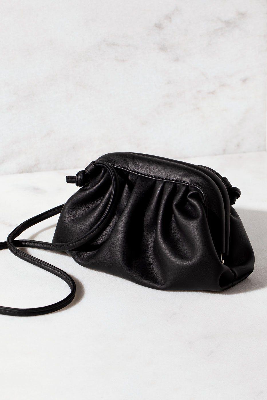 Impulse Fashion Accessories Cara Black Clamshell Clutch Purse  - G1464 Black