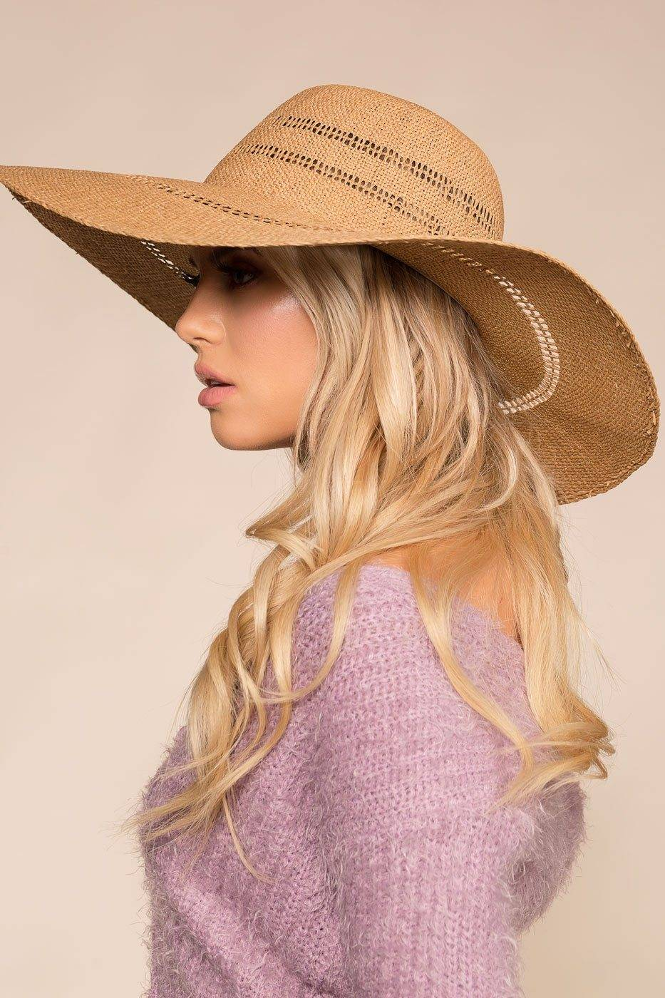 Fame Out Of Town Woven Sun Hat  - G1038 Tan