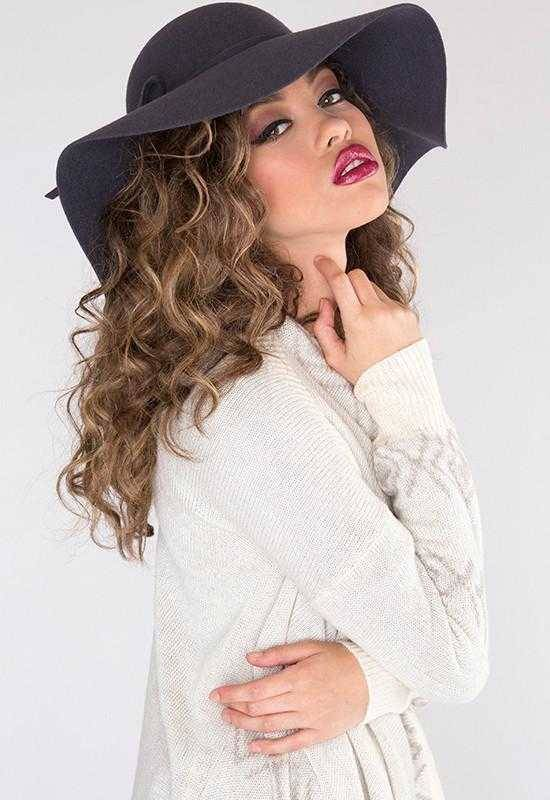 Priceless Lily Wool Hat - Charcoal  - 380130825