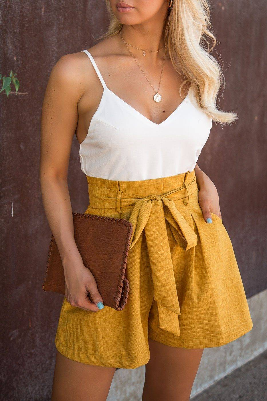 The Clothing Company Brunch Ready Mustard Romper  - G1313 Mustard Large