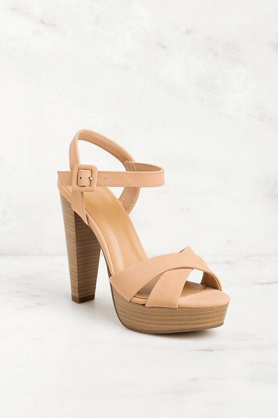 Fortune Dynamic High Ground Taupe Heels  - G1261 D-Nude 8