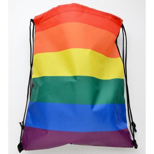 Rainbow_Drawstring_School_bag Full Rainbow Flag - Drawstring backpack / School bag - Gay Pride - LGBT Lesbian Pride Gifts and Accessories