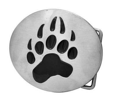 Bear_Paw_Oval_Belt_Buckle Bear Pride Oval Steel Belt Buckle - Gay Pride Clothing Accessories