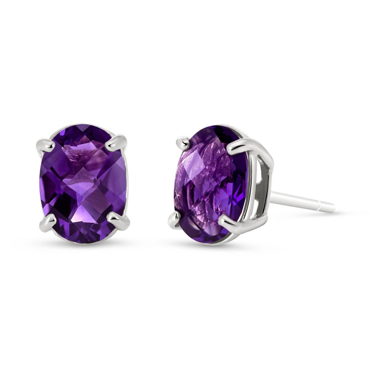 QP Jewellers Amethyst Stud Earrings 1.8 ctw in 9ct White Gold