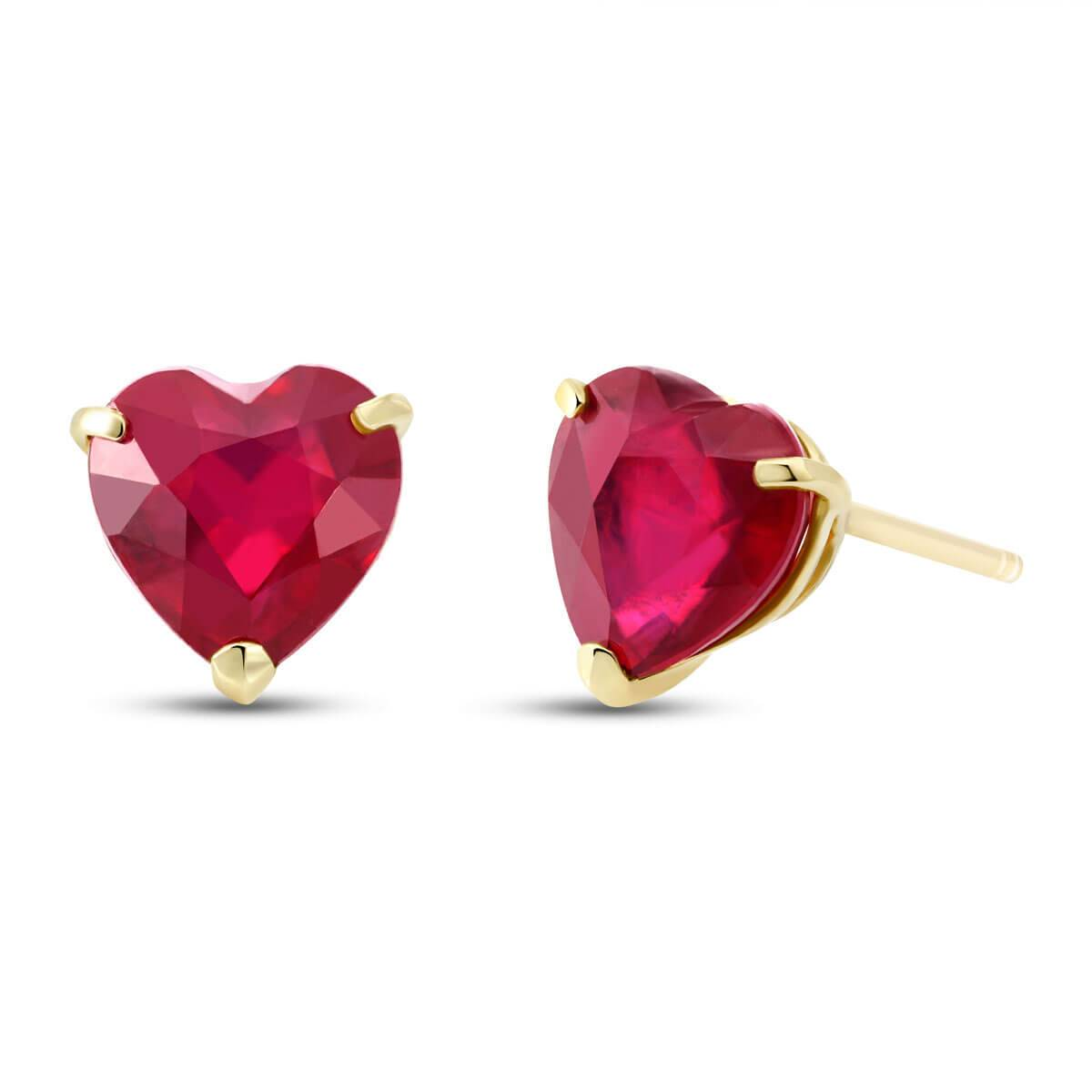 QP Jewellers Ruby Stud Earrings 2.9 ctw in 9ct Gold
