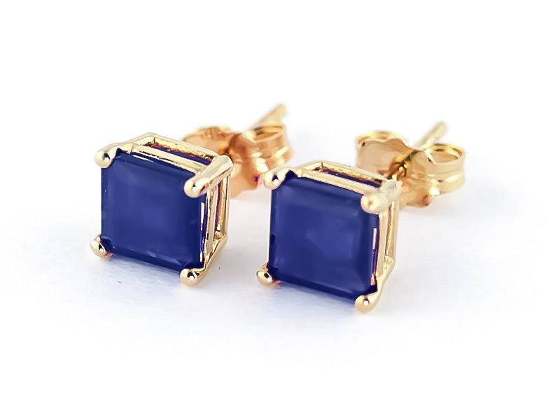 QP Jewellers Sapphire Stud Earrings 2.9 ctw in 9ct Gold