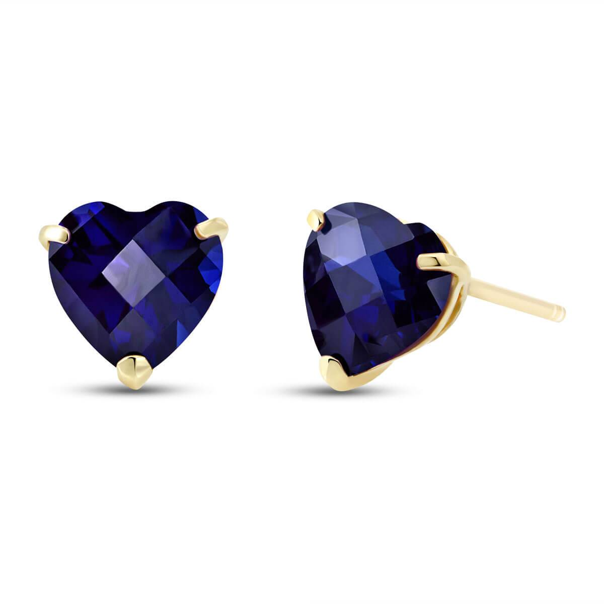 QP Jewellers Sapphire Stud Earrings 3.1 ctw in 9ct Gold
