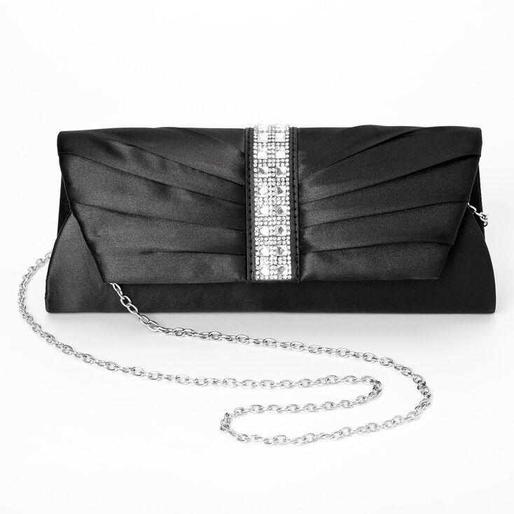 Claire's Embellished Clutch Bag - Black