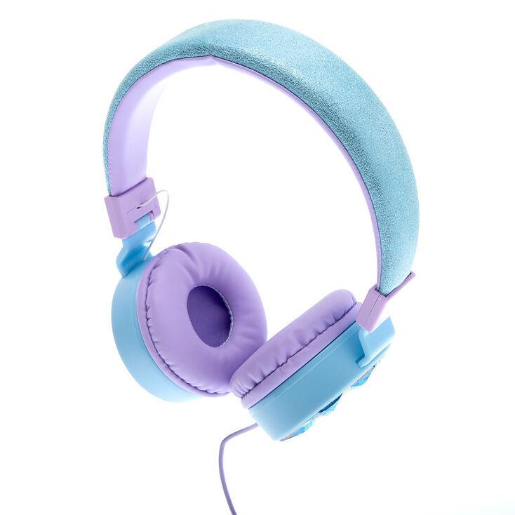 Claire's Snowflake Bling Headphones - Blue