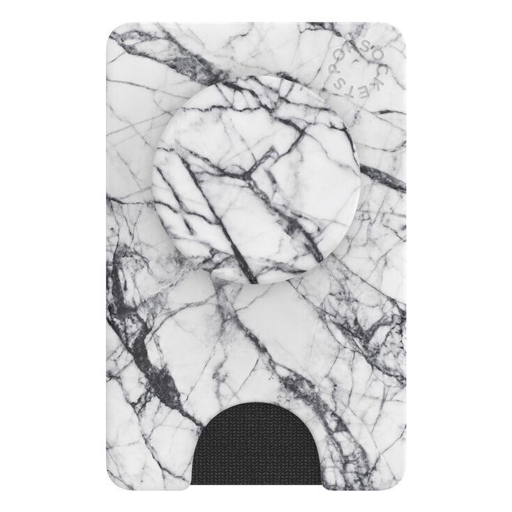 Claire's PopWallet+ Dove White Marble