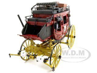 Franklin Mint Wells Fargo Overland Stagecoach Diecast Model 1/16 by Franklin Mint