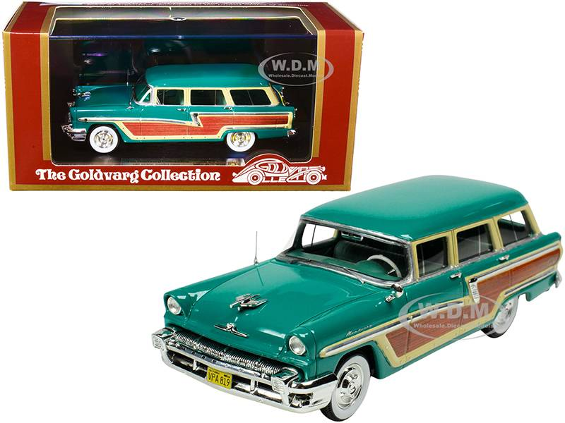 Goldvarg Collection 1956 Mercury Monterey Station Wagon Health Green with Wood Paneling Limited Edit