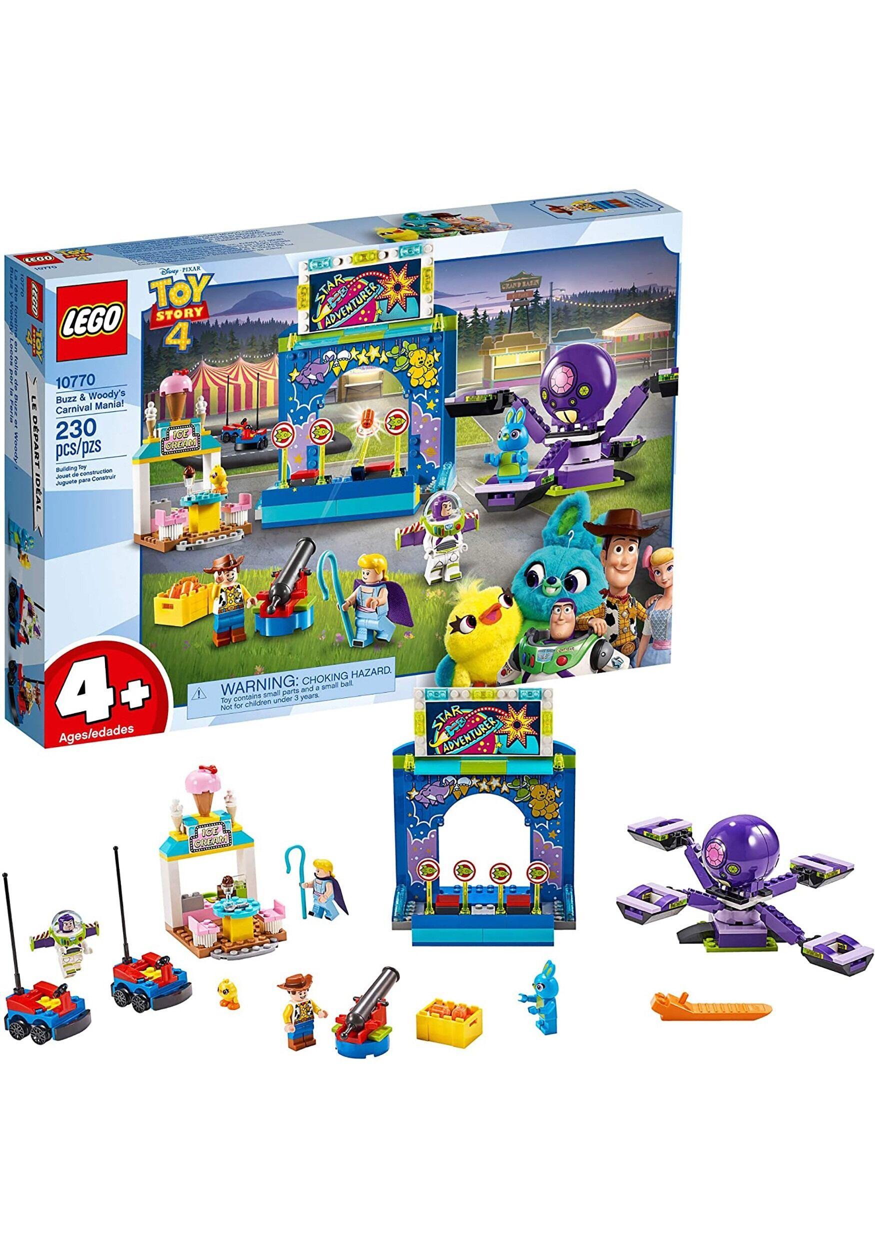 Lego Toy Story 4 Buzz & Woody's Carnival Mania! Building Block Set  - Blue/Orange/Purple - Size: One