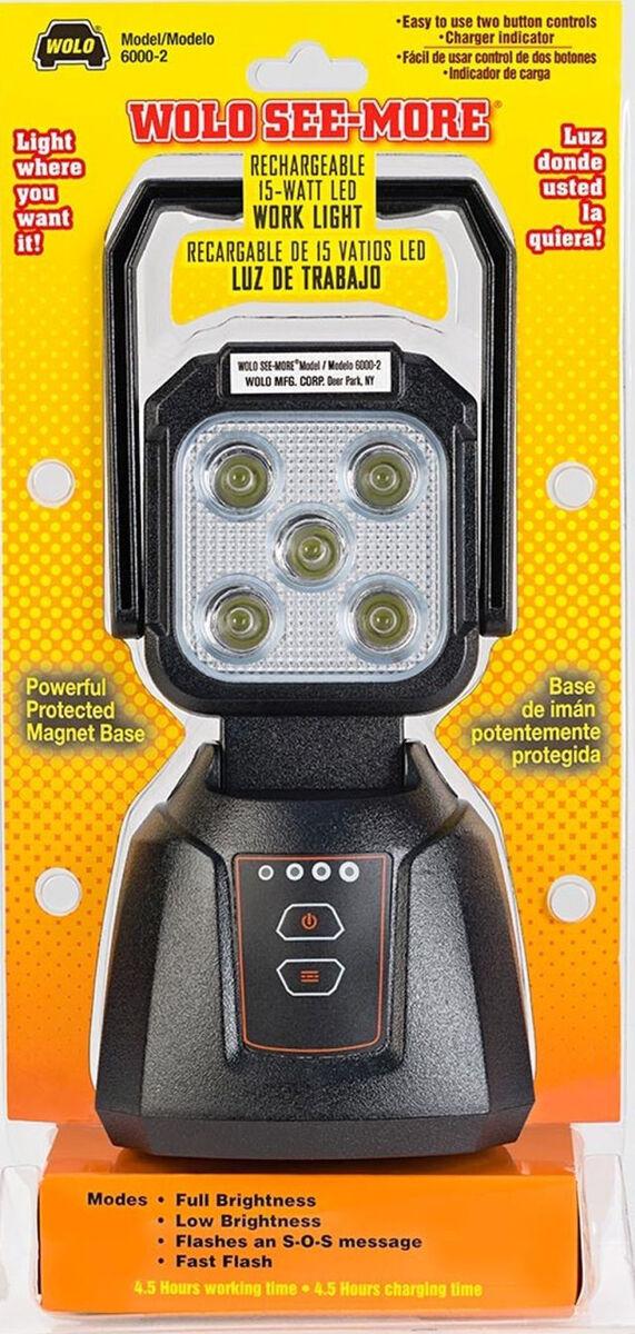 Wolo 15-Watt LED Rechargeable Work Light