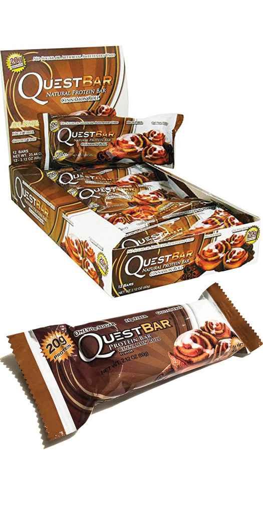 Garmin Quest Nutrition Quest Protein Bars - Cinnamon Roll - 12 Bars